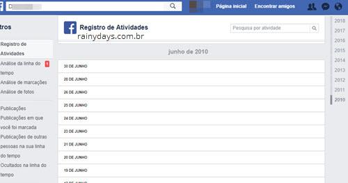 Posts do Facebook apagados extensão Chrome Social Book