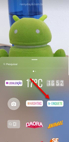adesivos Instagram Enquete