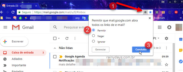 Como abrir todos links mailto no Gmail no Chrome, Firefox e Safari