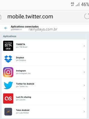 Ver aplicativos conectados no Twitter pelo celular