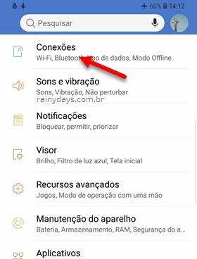 Configurações Conexões Android