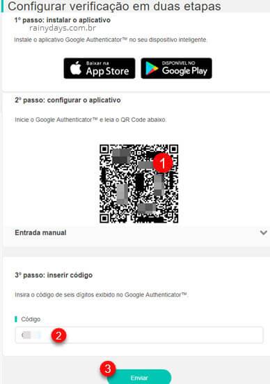 Configurar verificação em duas etapas Nintendo conta