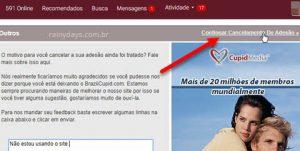 Como excluir conta do BrazilCupid e LatinAmericanCupid