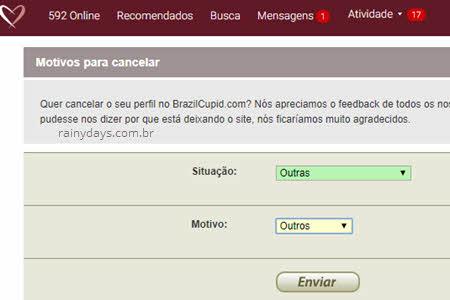 MOtivos quero cancelar perfil BrazilCupid LatinAmericanCupid