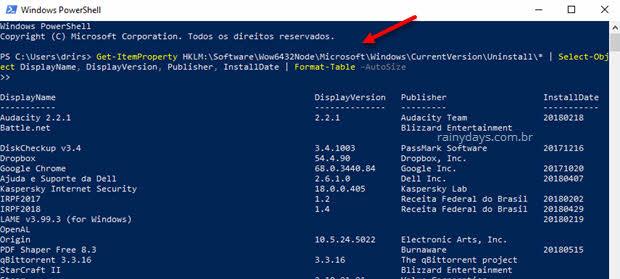 Como criar uma lista dos programas instalados no Windows