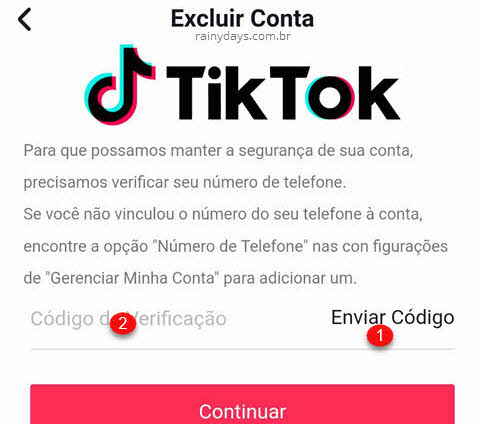 Excluir conta do Tik Tok permanentemente