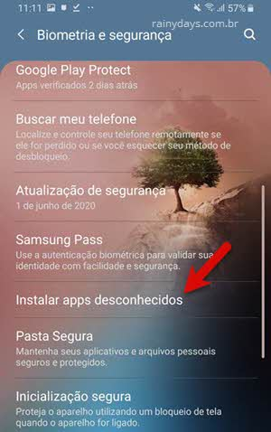 Instalar apps desconhecidos Android