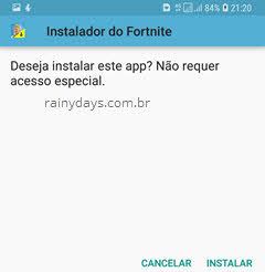 instalar Fortnite no Android