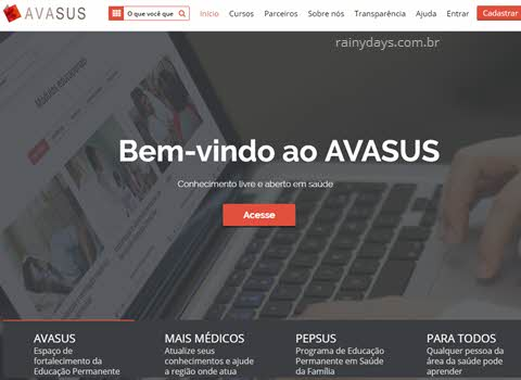 Cursos do SUS gratuitos online