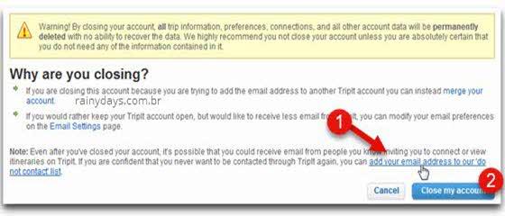Excluir conta do TripIt e revogar no Google ou Face