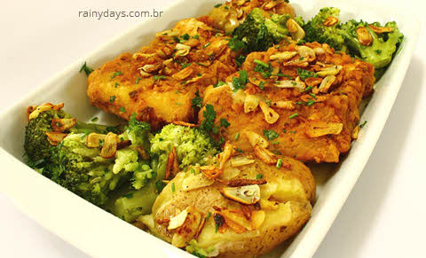 Tipos de peixes em inglês, imagem de um prato de bacalhau