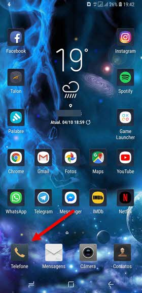 app Telefone smartphone Samsung