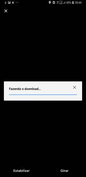 Fazendo download de arquivo Google Fotos para dispositivo