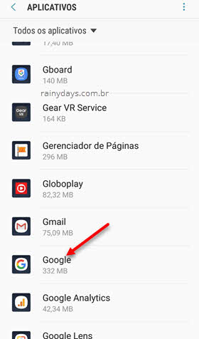 Aplicativo Google Android