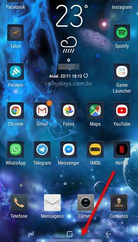 ícone Acesso Rápido Samsung Pay tela inicial