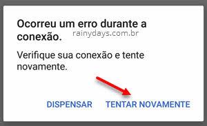 Ocorreu um erro durante a conexão Voice Match Ok Google Google Assistente