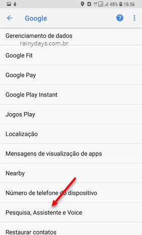 Pesquisa, assistente e voice Google