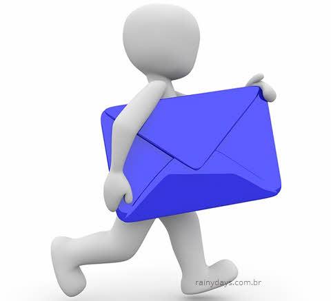 Enviar email para solicitar exclusão de conta em inglês