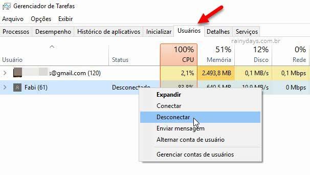 Como deslogar outros usários do Windows 10