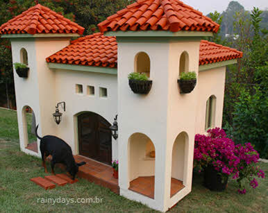 castelo mansão para cachorro