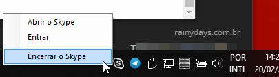 encerrar o skype windows 10
