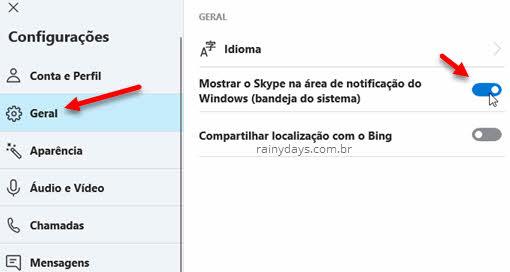 Como remover o Skype da bandeja do sistema no Windows 10