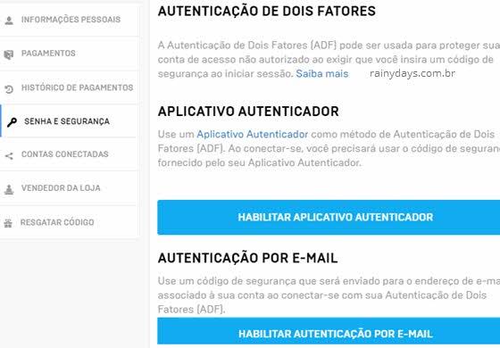Ativar verificação em duas etapas no Fortnite