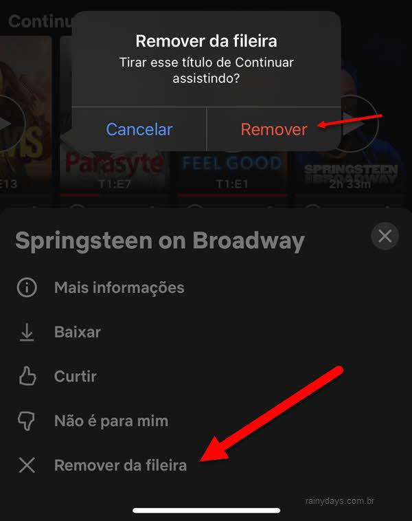 Como remover da lista continuar assistindo do Netflix usando celular