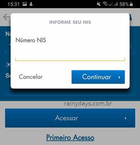 número PIS app FGTS Caixa
