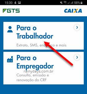 Para o trabalhador app FGTS Caixa