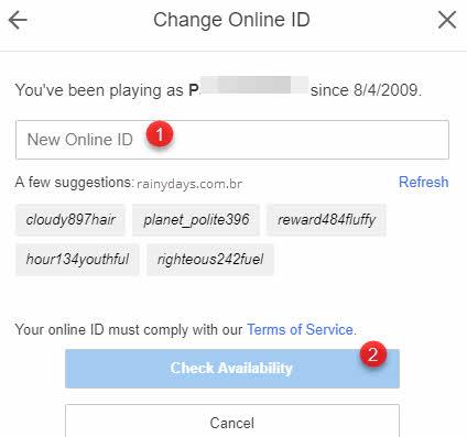 alterar nome ID online da PSN Sony