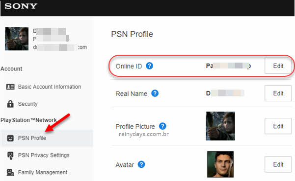 Como mudar ID da PSN Sony