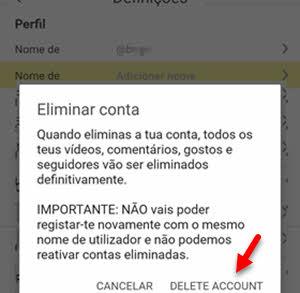 delete account lomotif app