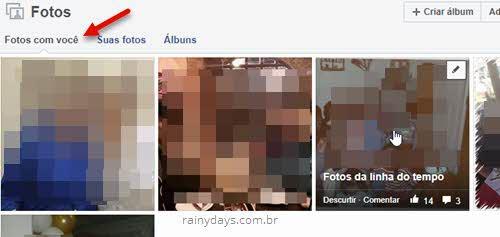 Fotos com você no Facebook