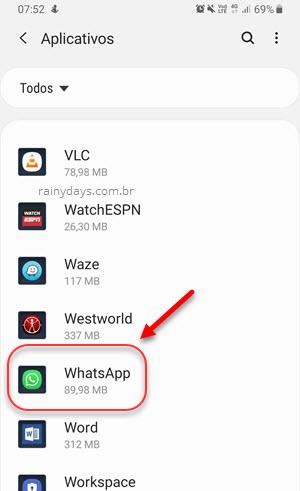 WhatsApp dentro de aplicativos Android