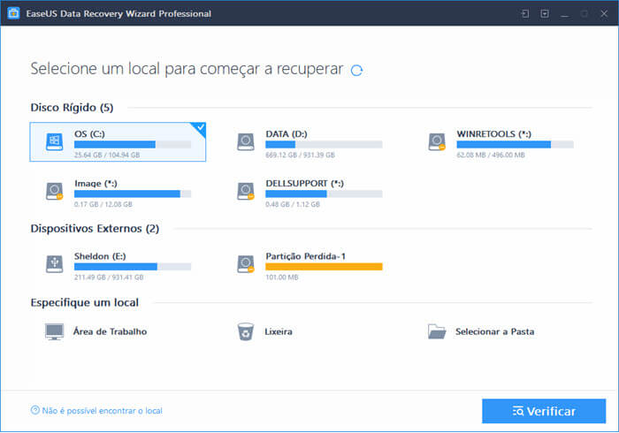 Recuperar arquivos deletados do computador.