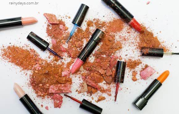 Quando descartar cosméticos, maquiagem, validade