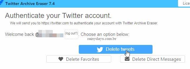 Delete Tweets app Twittter Archive Eraser Windows