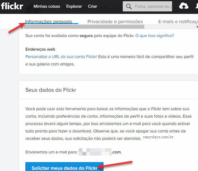 Fazer backup das suas contas nas redes socias Flickr
