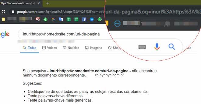 Ver data de atualização modificação de uma página na web pelo Google