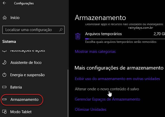 Alterar local de salvamento da Microsoft Store
