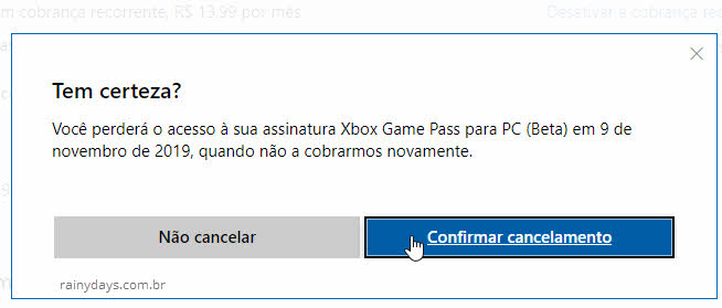 Como cancelar Xbox Game Pass para PC Microsoft