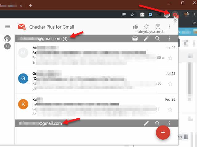 Extensão Checker Plus para Gmail gerenciar na barra do Chrome