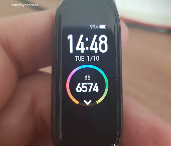 Como restaurar tela original da Mi Band 4