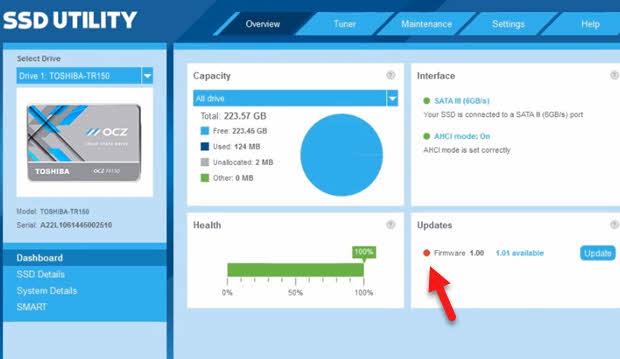 atualizar toshiba SSD OCZ