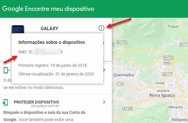 Descobrir IMEI do celular se foi roubado Android, conta Google