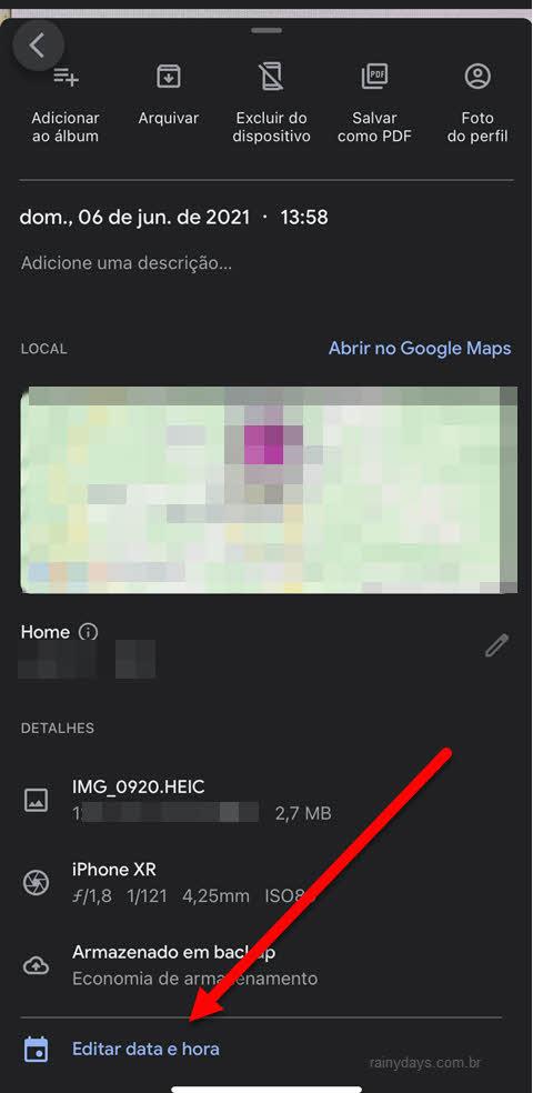 editar Data e Hora de foto pelo aplicativo Android ipHone