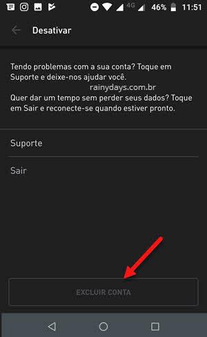 excluir conta do app Grindr