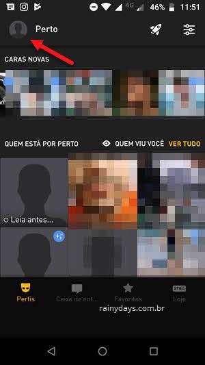 ícone da foto menu lateral app Grindr