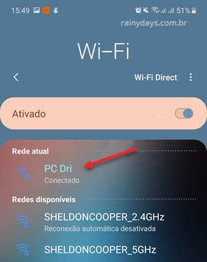 celular conectado na rede ethernet do windows hotspot móvel